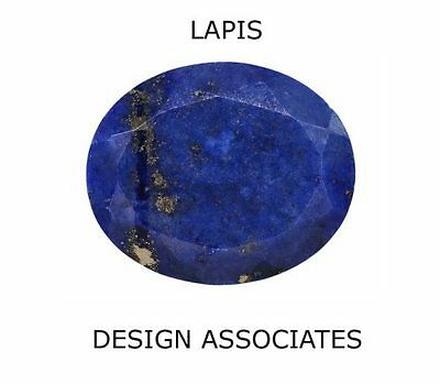 LAPIS FACETED 11 X 9 MM OVAL CUT ALL NATURAL GEMSTONE