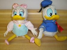 Vintage Donald Duck & Daisy Stuffed Animals By Wallace Berrie Applause NOS