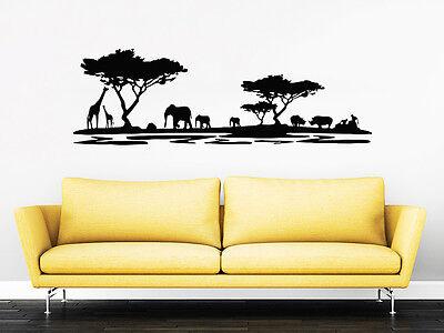 Safari Wall Decal African Safari Nursery Decor Africa Jungle Bedroom Dorm ZX122