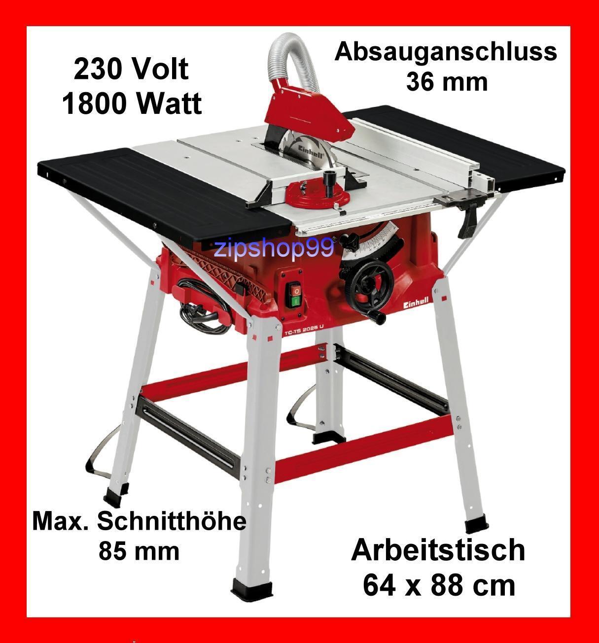 Tischkreissäge Einhell TC-TS 2025 U Kreissäge Baukreissäge Säge 1800 Watt B-Ware