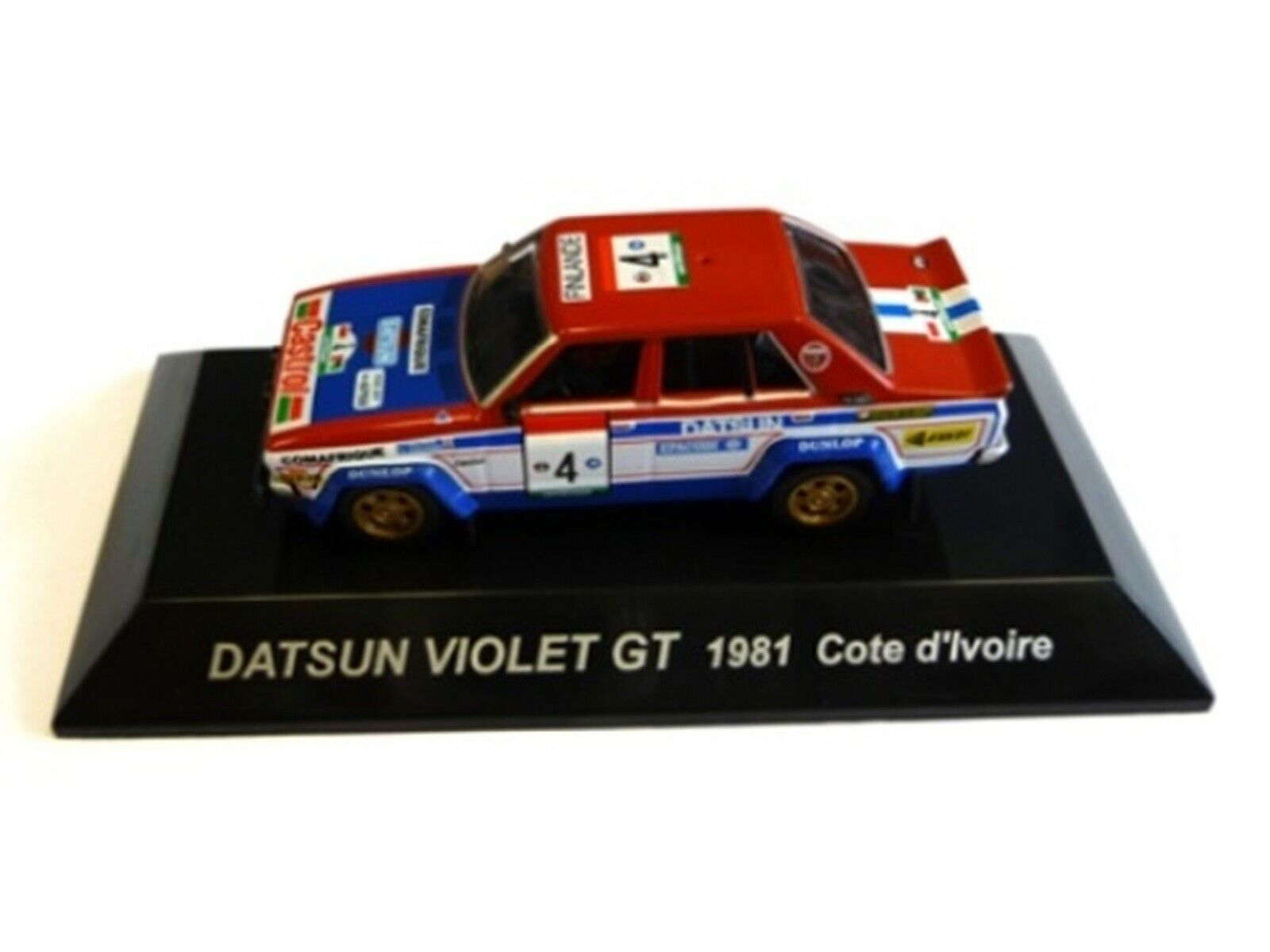 WOW EXTREMELY RARE Datsun purple GT Salonen Ivoire 1981 WRC 1 64 CM's Kyosho