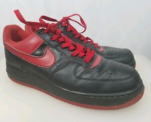 low priced c9188 5f7fc Details about NIKE Air Force One Low Sneakers AF1 XXV 82 Black/Red Custom  Painted Shoes Sz 12