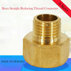 """1/8"""" 1/4 3/8"""" 1/2"""" Female Male BSP Coupler Brass Connector Fitting Adapter Union"""