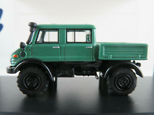 BOS-87315-Unimog-U-416-Double-Cabine-1965-en-Vert-1-87-h0-Nouveau-Neuf-dans-sa-boite