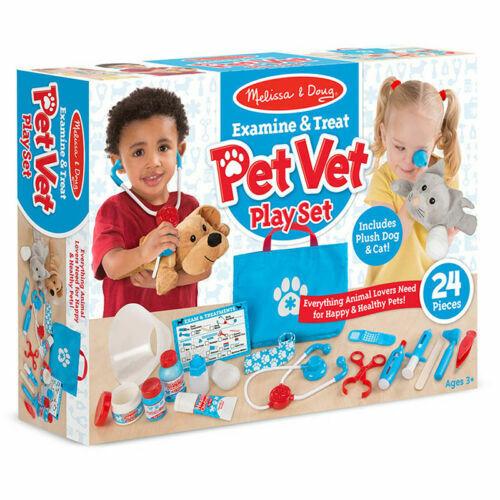 Melissa Doug Examine And Treat Pet Vet 24 Piece Play Set 8520 For Sale Online Ebay