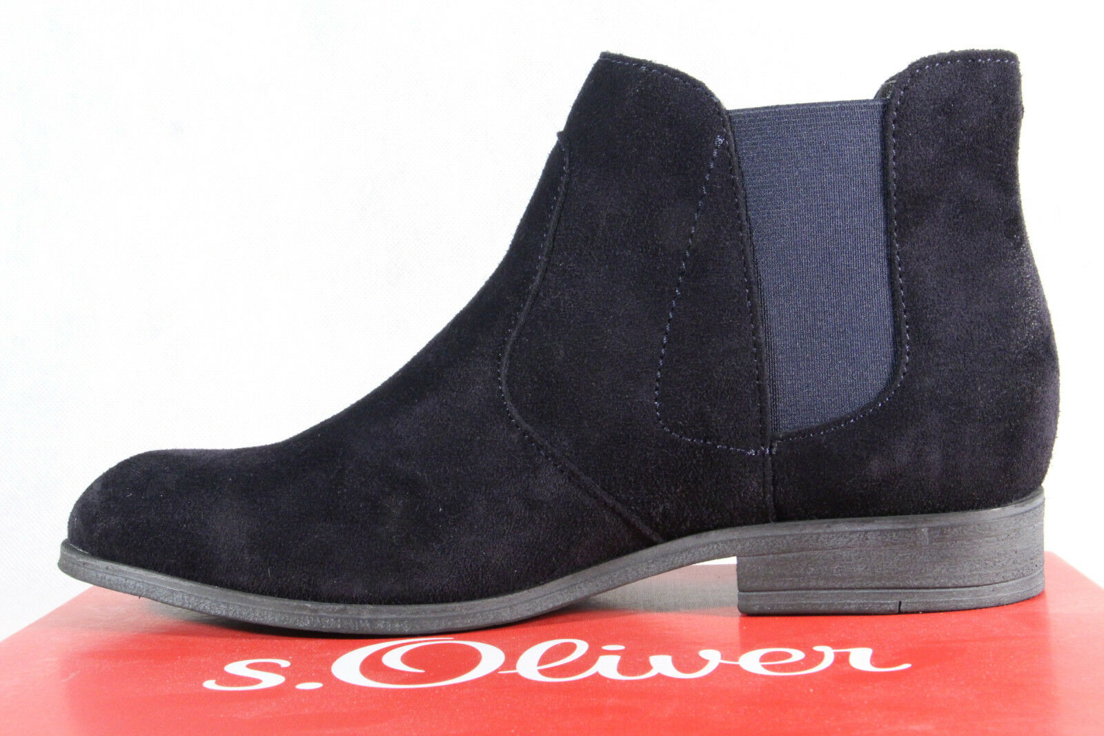 cfd8b53b2c6f ... S.Oliver Damen Stiefel Stiefelette Stiefel Schlupfstiefel blau  Echtleder Stiefel NEU 59405b ...