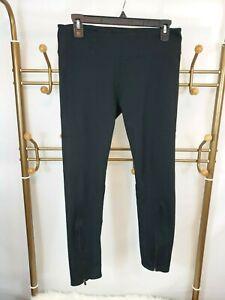 Fabletics-Women-039-s-Mid-Rise-Black-Leggings-Size-L-Ankle-Zippers-Stretch-Yoga