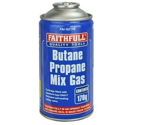 Fidèle FAI GZ170 Butane Propane Mélange Gaz Cartouche EN417 Fileté 170 g