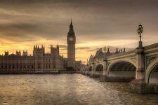 Varilla Edwards-otoño cielos LONDRES-Nuevo Maxi Poster-Río Támesis