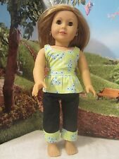 "homemade 18"" american girl/madame alexander 2 piece shirt/pants doll clothes"