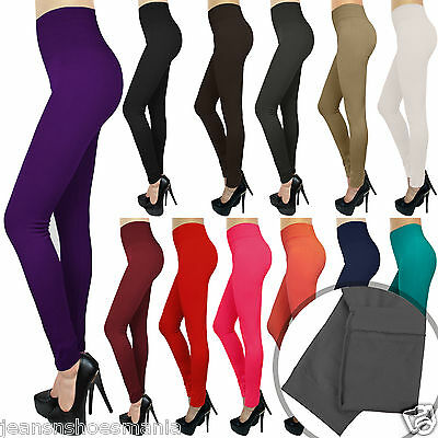 New High Waisted Thick Fleece Leggings Jeggings Stretch Skinny Warm Pants