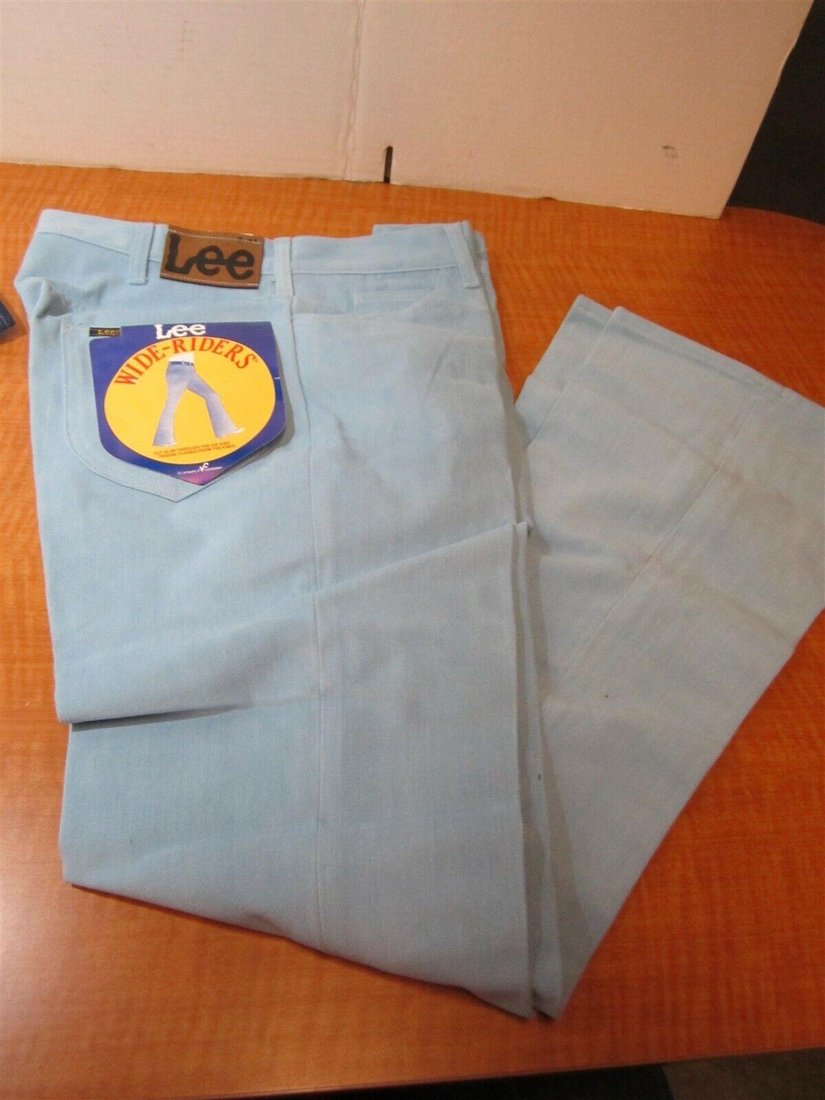 Lee Womens Vintage Light bluee Wide Denim Rider Jeans Size  33x36 USA MADE