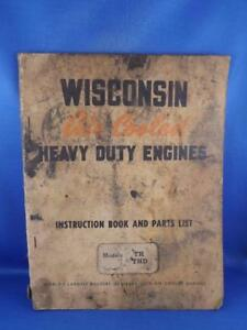 Details about WISCONSIN AIR COOLED HEAVY DUTY ENGINES INSTRUCTION BOOK  PARTS LIST TH THD