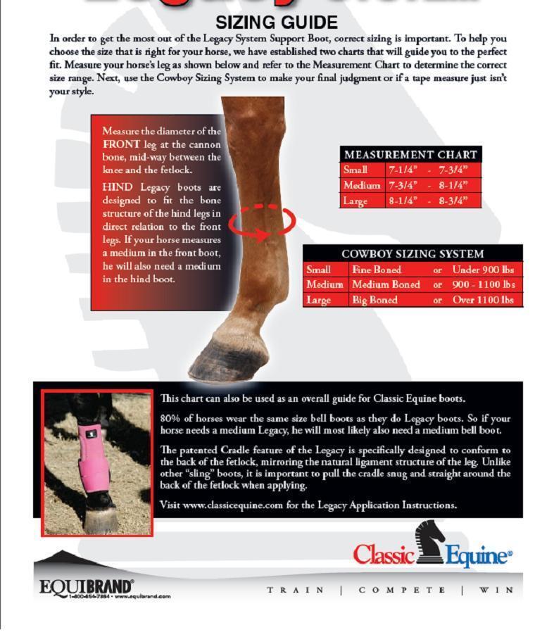 Classic Equine Equine Equine Cheetah Legacy 2 sistema delanteras y traseras Tablilla botas de soporte de pierna L c71952
