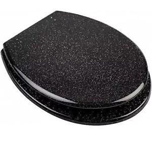 Black Glitter Toilet Bathroom Seat