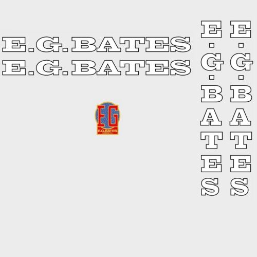 E.G.Bates Bicycle Decals, Transfers, Stickers n.1