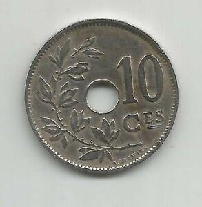 Ambitieux F33) Belgique 10 Centimes 1929 - Cu/ni - Xf/mbc Gagner Les éLoges Des Clients