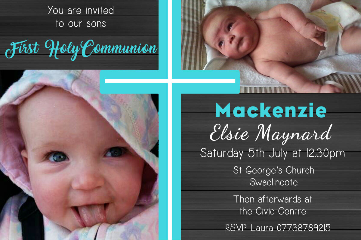 Personalised Photo Boy 1st First Holy Communion Invites inc envelopes H3