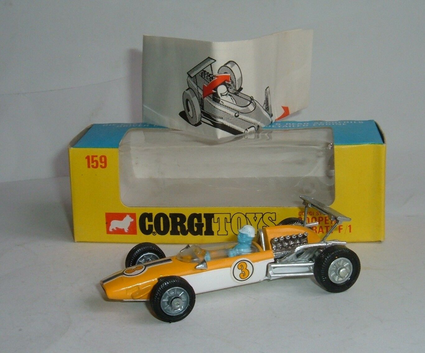 Corgi spielzeug nr. 159, cooper - maserati - f   1, ein pfefferminz.