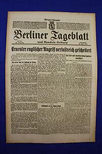 DéTerminé De Berlin Dealer (28.4.1917): Nouvelle Attaque Anglaise Perte Riche Bler-afficher Le Titre D'origine