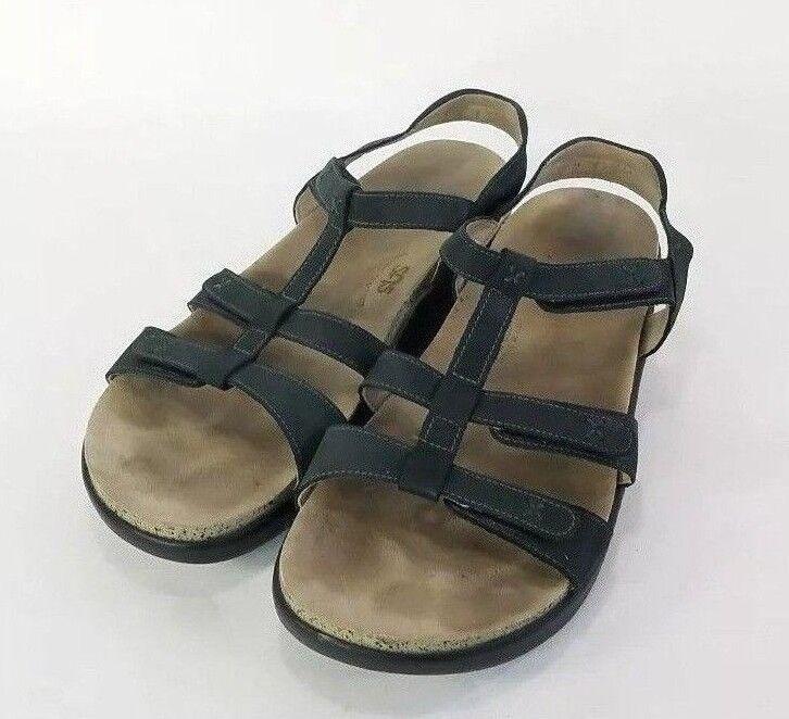 SAS Sorrento nero nero nero Nubuck Leather Sandals Donna  Dimensione 10 M Tripad Comfort 18ed11