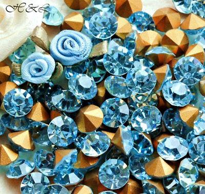 Swarovski vintage 24 chatons ss35 Turquoise