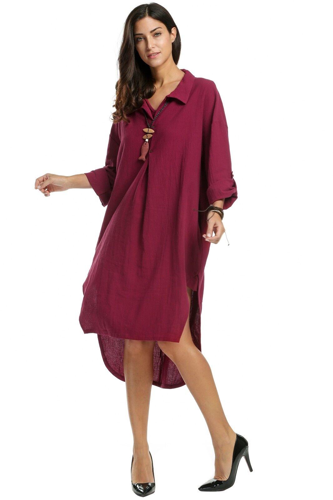 06f56b97420 Dress women s dress maxy jersey comfortable red élégant long sleeves 3243