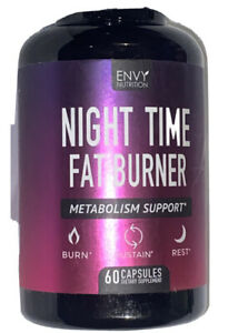 Envy Nutrition Night Time Fat Burner Metabolism Support Fat Burner - 60 Capsules