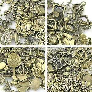 50g-Lot-Vintage-Brass-Antique-Bronze-Findings-Bead-Connector-Charm-Ect-SC0001