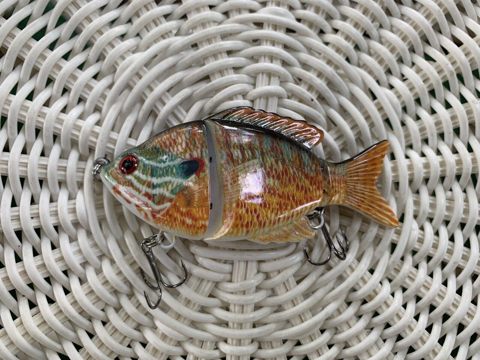 blueegill Bass Lure Longear Sunfish color 3D RedEye Lifelike Swimming Jointed  low-key luxury connotation