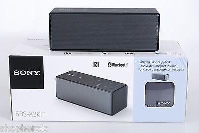 Sony SRS-X3 KIT Portable NFC Bluetooth Wireless Speaker Speakerphone w/ Case