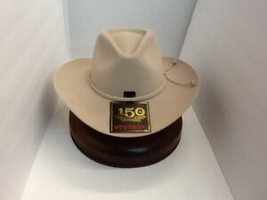 e1c64e3992 Image is loading Stetson-Cowboy-Hat-6X-BeaverFur-Silverbelly-Carson-With-
