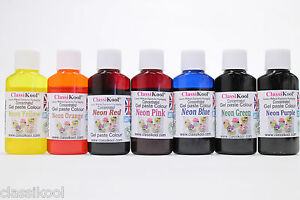 Classikool 30ml Neon Gel Food Colouring Sugarpaste Icing Dye: Any ...