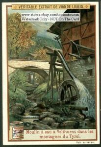 Watermill-Moulin-Sudtyrol-Tyrol-Germany-Montagnes-c1905-Trade-Ad-Card