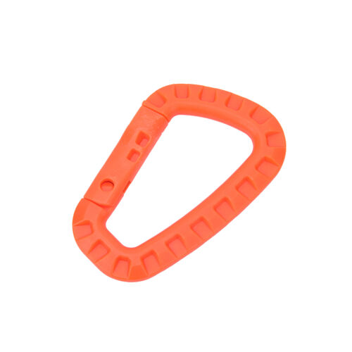 D shape 200LB carabiner spring snap key chain clip hook lock outdoor buckle  NMC