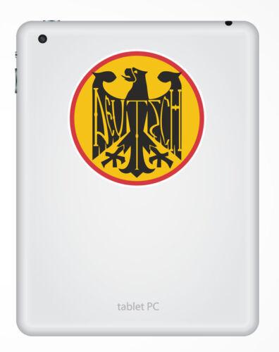 2 x Deutsch Vinyl Sticker Decal Luggage Travel German Germany Deutschland #5439