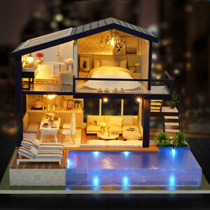 Maison-DIY-avec-Meubles-Enfants-Adultes-Miniature-en-Bois-Maison-de-PoupeE-M7O6