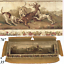 HUGE-Antique-French-Aubusson-Panel-Sofa-Cover-76-034-x-35-034-with-Stag-and-Hounds thumbnail 1