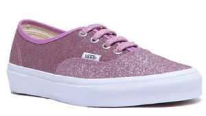 Lurex Rosa 3 8 Vans Authentic da ginnastica Size Scarpe Glitter basse Canvas Women Uk d7BXxw