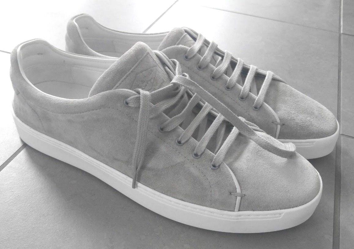 Rag & Bone Kent Con Cordones Zapatillas cemento Gamuza Mens tamaño nos 10.5 EU 44 Nuevo Sin Caja