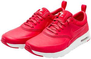 Nike Mujeres Air Max Thea Premium Zapato 616723 602 Rojo/Blanco