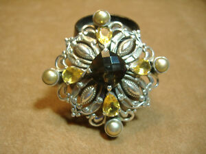 VINTAGE-GEM-AND-PEARL-SET-STERLING-SILVER-PIN
