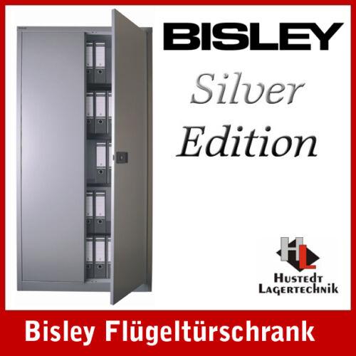 Neuware TOP tolle Optik BISLEY Stahlschrank in SILBER