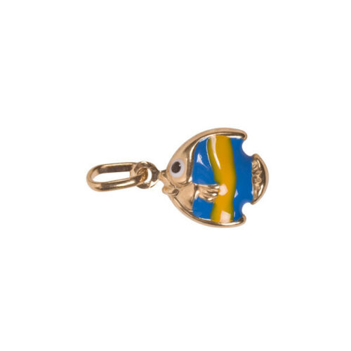 TROPICAL FISH Charms New Charm Enameled 9ct Gold
