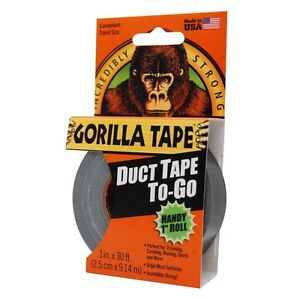 Gorilla-Tape-Duct-Tape-To-Go-Handy-Roll-25mm-x-9m-Pocket-Size-Strong-Duty