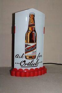 RARE années 1930 Ortlieb bière REVERSE verre balle lighted sign-afficher le titre d`origine YnRTIWN0-09090736-367145411