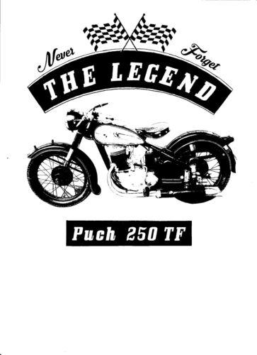 Oldtimer Moto Youngtimer T-Shirt Bike Puch 250 Tf
