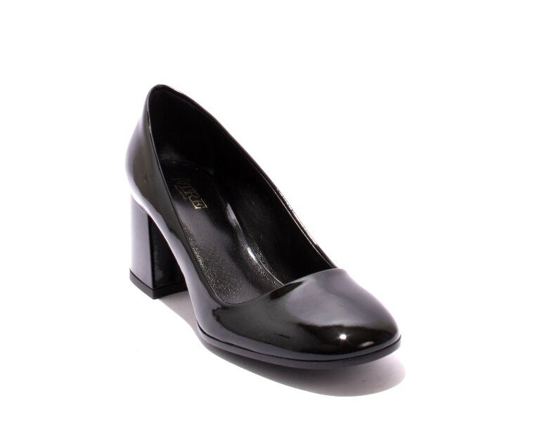 Etre 620 Black Patent Leather Geometric Heel shoes Pumps 38   US 8