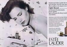 Publicité Advertising 016 1985 Estée Lauder  soin de la peau (2 pages)