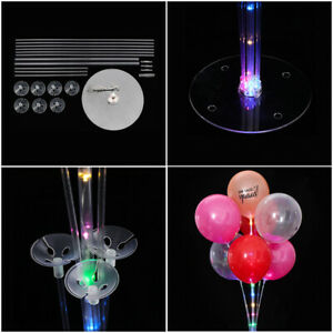 1Set LED Balloons Column Stand  Balloon Support with 7 tubes Party Wedding Home, Furniture & DIY